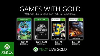 Games with Gold: Free games for December 2019