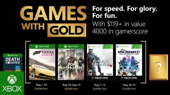 Games with Gold: Free games for August 2018