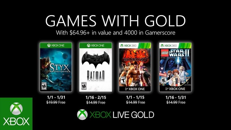Games with Gold: Free games for January 2020