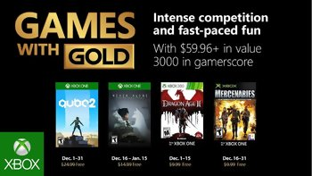 Games with Gold: Free games for December 2018
