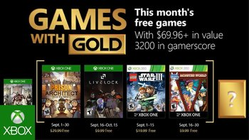 Games with Gold: Free games for September 2018