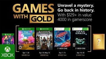 Games with Gold: Free games for April 2018