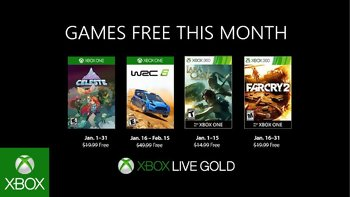 Games with Gold: Free games for January 2019