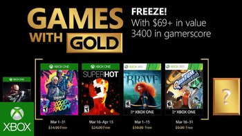 Games with Gold: Free games for March 2018