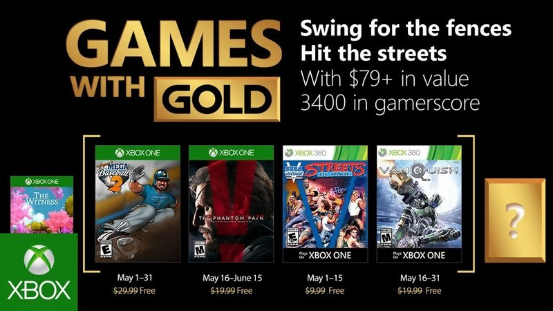 Games with Gold: Free games for May 2018